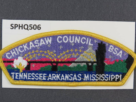 Chickasaw Council Tennessee Arkansas Mississippi CSP Teal Yellow Border - Scout Patch HQ