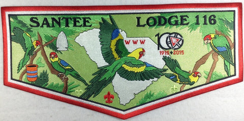 #116 Santee Lodge J7 Centennial Jacket Flap 2015 Issue - Scout Patch HQ