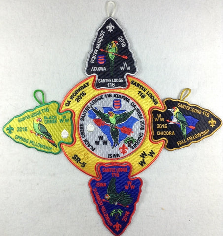 #116 Santee Lodge 2016 Complete 5 Patch Set - Scout Patch HQ