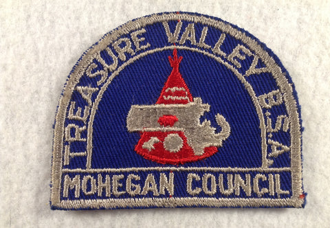 Treasure Valley Mohegan  Grey Cut-edge Border Twill Patch [FLA155]