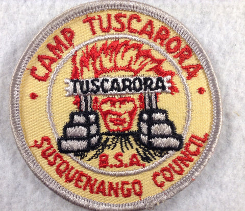 Camp Tuscarora Susquenango Council Grey Border Twill Patch