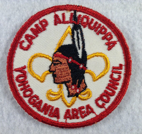Camp Alliquippa Yohoogania Area Council Red Border Cut-edge Twill Patch