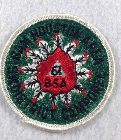 1961 Sam Houston Area S.W. District Camporee White Border Patch