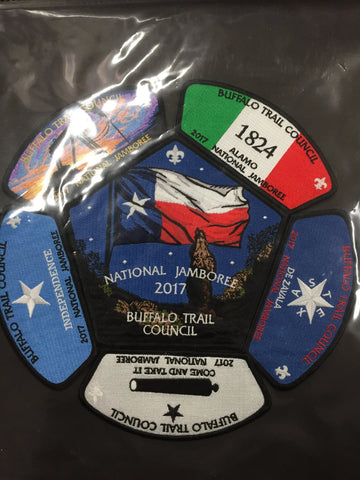 2017 National Jamboree 6 Piece Buffalo Trail Council Set [JAMBO]