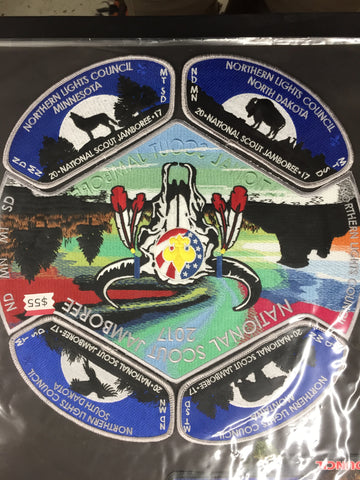 2017 National Jamboree 5 Piece Northern Lights Council Set [JAMBO]