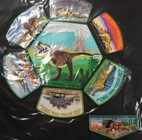 2017 National Jamboree 8 Piece Utah National Parks Council Set GRN [JAMBO]