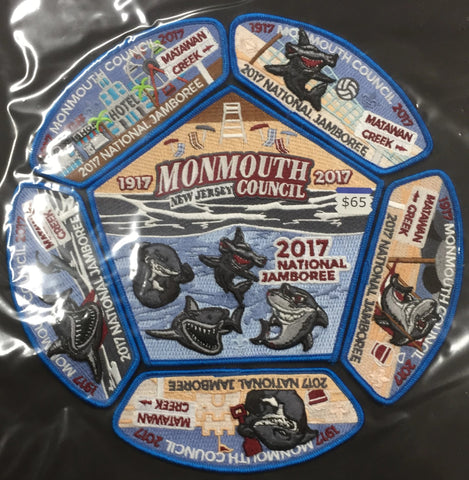 2017 National Jamboree 6 Piece Monmouth Council Set [JAMBO]