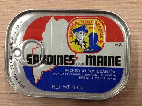 1981 National Scout Jamboree Empty Can of Sardines From Maine [JAMBO]
