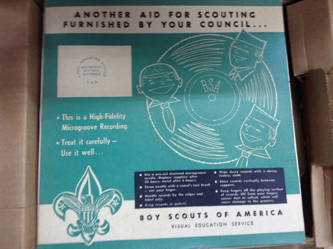 Audio Visual Training For Scoutmasters Records and Film Strips [JAMBO]