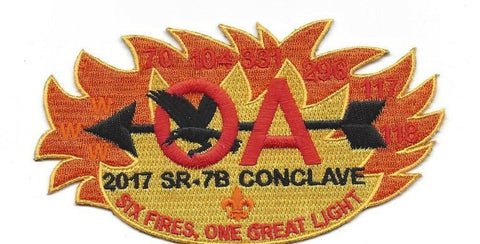 2017 SR-7B Cardinal Conclave Delgate Patch Yellow Border Preorder Only [J828]