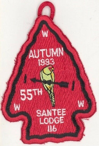 OA 116 Santee Lodge 1993 Autumn Fellowship Camp Coker [PD182]
