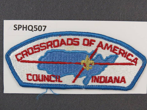 Crossroads of America Council Indiana CSP Blue Border - Scout Patch HQ