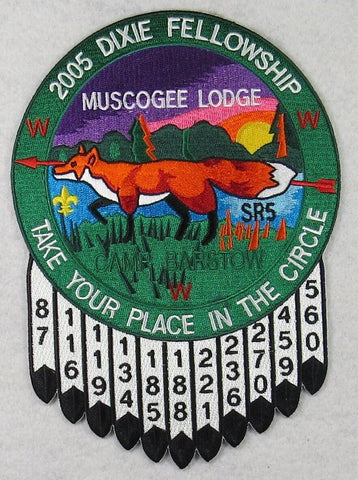 2005 Dixie Fellowship Jacket Patch Muscogee 221 Host [FL2242]