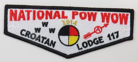 OA Lodge 117 Croatan 2014 National Pow Wow Flap [T259]