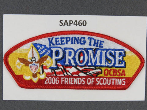 Orange County Council CSP 2006 Friends of Scouting FOS Red Border - Scout Patch HQ