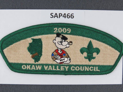 Okaw Valley Council CSP 2009 Popeye Green Border - Scout Patch HQ