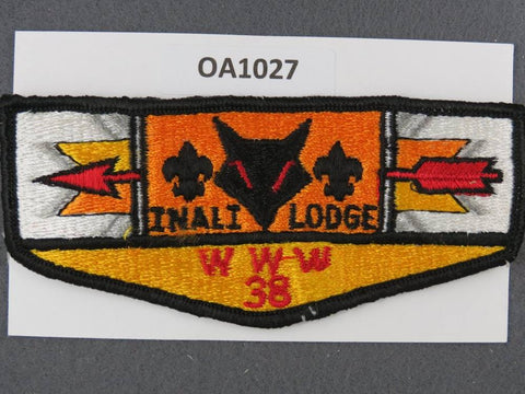 OA Lodge # 38 Inali Prairie  1970s Clothback  Flap [OA1027]**