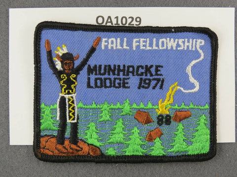 OA Lodge # 88 Munhacke Portage Trails  1971  Patch [OA1029]**
