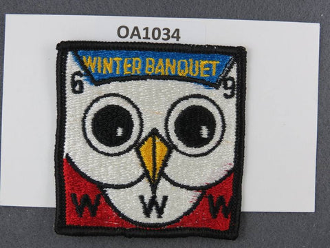 OA Lodge # 128 Kickapoo Wabash Valley  1969 Winter Banquet  Patch [OA1034]**