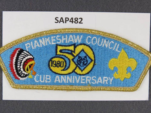 Plankeshaw Council CSP 1980 Cub Scout Anniversary Gold Mylar Border