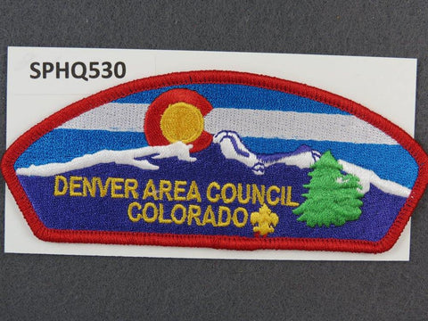 Denver Area Council Colorado CSP Red Border - Scout Patch HQ