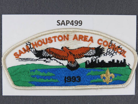 Sam Houston Area Council CSP 1999 White Border - Scout Patch HQ