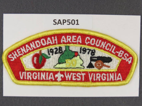 Shenandoah Area Councl Virginia West Virginia CSP 1978 50th Anniversary [SAP501]>>