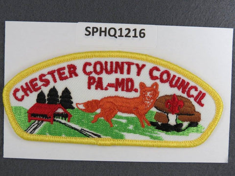 Chester County Council Pennsylvania Maryland CSP Yellow Border - Scout Patch HQ