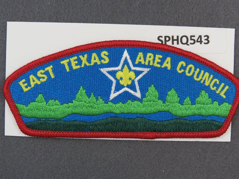East Texas Area Council CSP Red Border - Scout Patch HQ