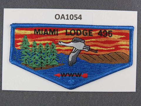 OA Lodge # 495 Miami  Miami Valley  Blue Border pb  Flap [OA1054]**