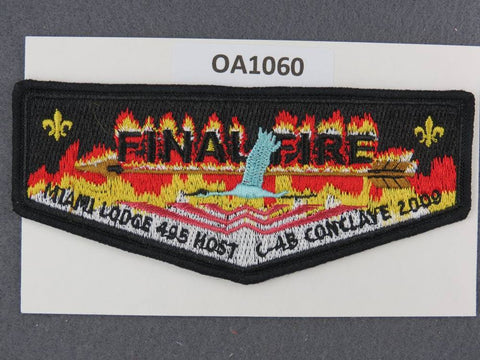 OA Lodge # 495 Miami  Miami Valley  Black Border 2009 C-4B Conclave Host  Flap [OA1060]**