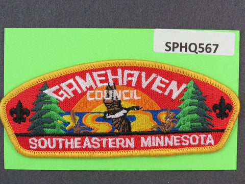 Gamehaven Council Southeastern Minnesota Yellow Border - Scout Patch HQ