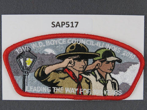 W. D. Boyce  Illinois CSP BSA 100th Anniversary 2010 Red Border [SAP517]>>
