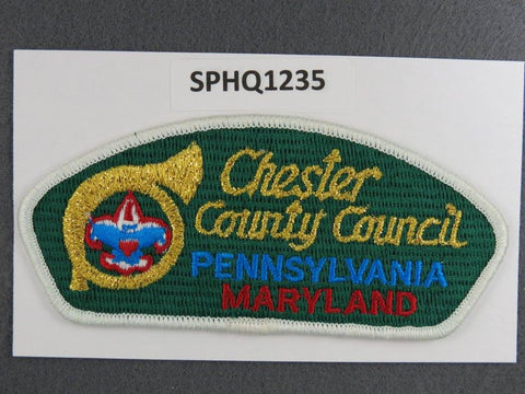 Chester County Council Pennsylvania Maryland CSP White Border - Scout Patch HQ