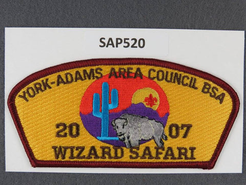 York Adams Area Council CSP 2007 Wizard Safari Dark Red Border - Scout Patch HQ