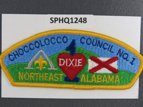 Choccolocco Council Northeast Alabama CSP Yellow Border - Scout Patch HQ