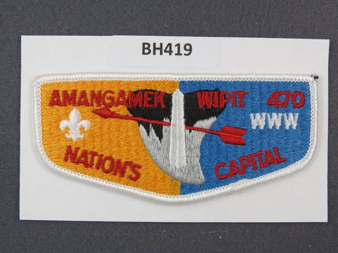 OA Lodge # 470 Amangamek-Wipit Flap White Border National Capital Area  [BH419]**