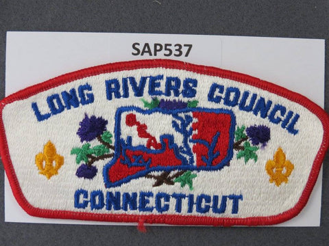 Long Rivers Council Connecticut CSP Red Border - Scout Patch HQ
