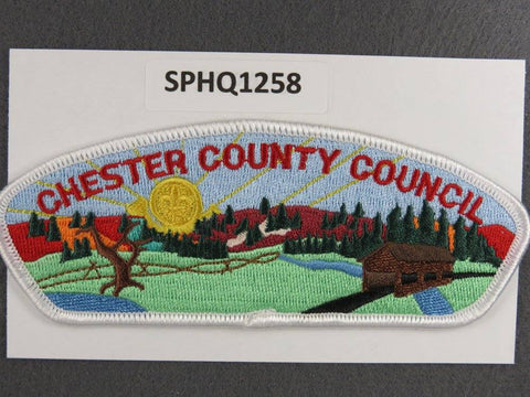 Chester County Council CSP White Border - Scout Patch HQ