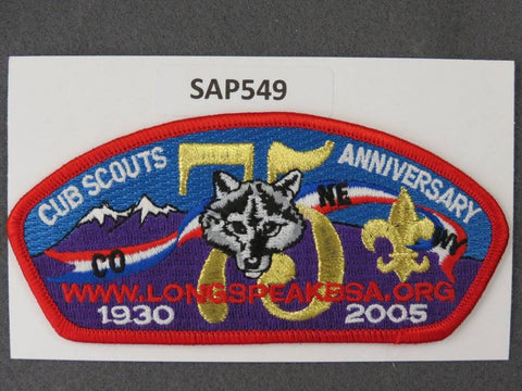 Longs Peak Council CSP 2005 Cub Scouts Anniversary Red Border - Scout Patch HQ