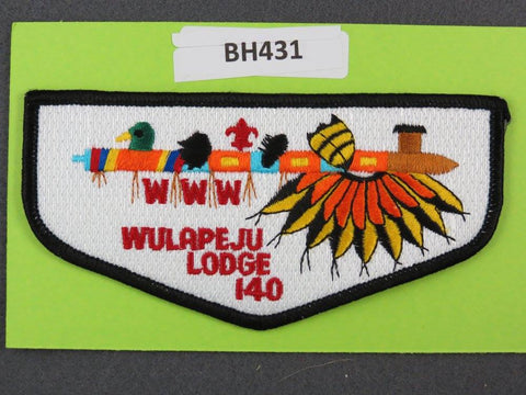 OA Lodge # 140 Wulapeju Flap Black Border Blackhawk Area  [BH431]**
