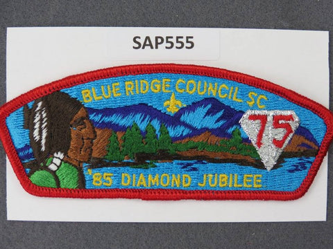 Blue Ridge Council South Carolnia CSP 1985 BSA Diamond Jubilee JSP Red Border - Scout Patch HQ