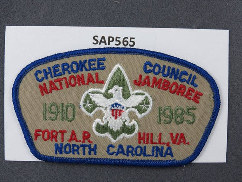 Cherokee Council North Carolina CSP 1985 National Jamboree JSP Blue Border - Scout Patch HQ