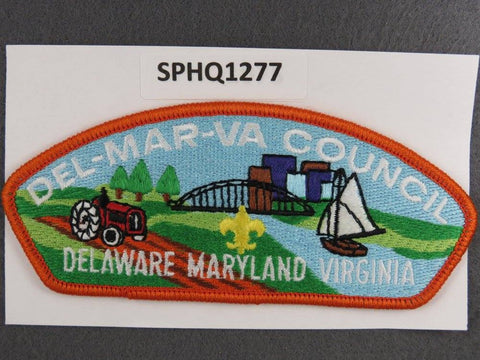 Del-Mar-Va Council Delaware Maryland Virginia CSP Orange Border - Scout Patch HQ