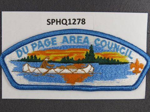 Du Page Area Council Illinois CSP Blue Border - Scout Patch HQ