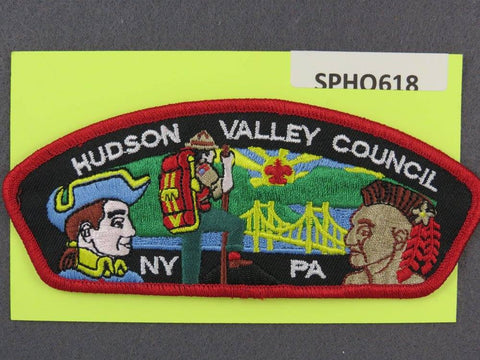 Hudson Valley Council New York Pennsylvania CSP Red Border - Scout Patch HQ