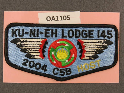 OA Lodge # 145 Ku-Ni-Eh Dan Beard Council 2004 C5B Conclave Host  Flap