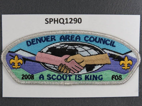 Denver Area Council Colorado CSP 2008 FOS Friends of Scouting SMY Border - Scout Patch HQ