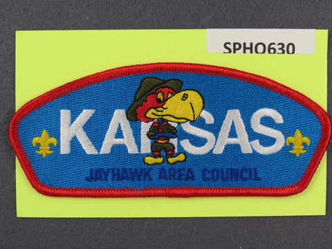 Jayhawk Area Council Kansas CSP Red Border - Scout Patch HQ