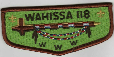 OA 118 Wahissa S14 WWW Flap BRN Bdr. Old Hickory NC [MOBX5-7h]